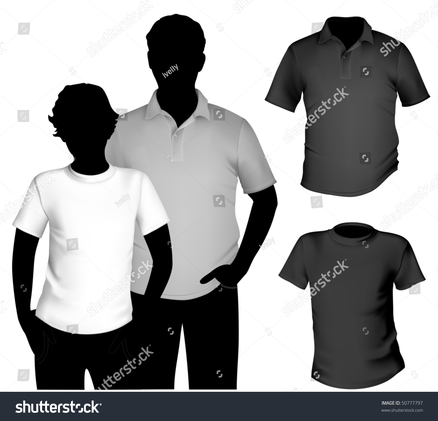 Black Collared Shirt Template Lauren Goss