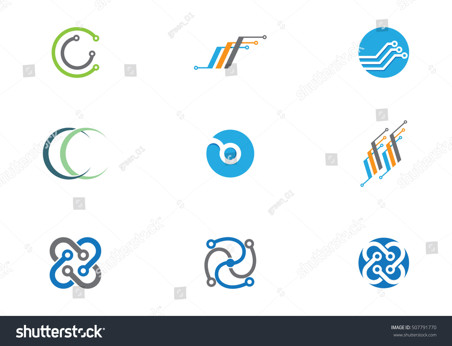 Cable Wires Wiring Logo Stock Vector 507791770