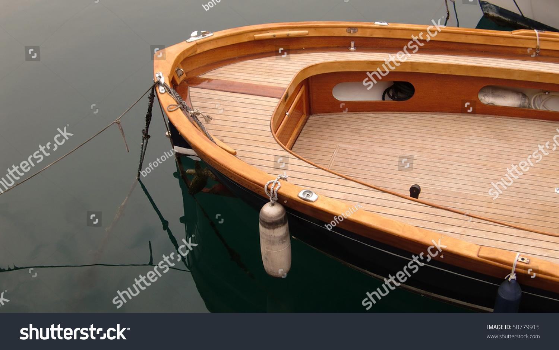 Teak wood boat stock photo shutterstock