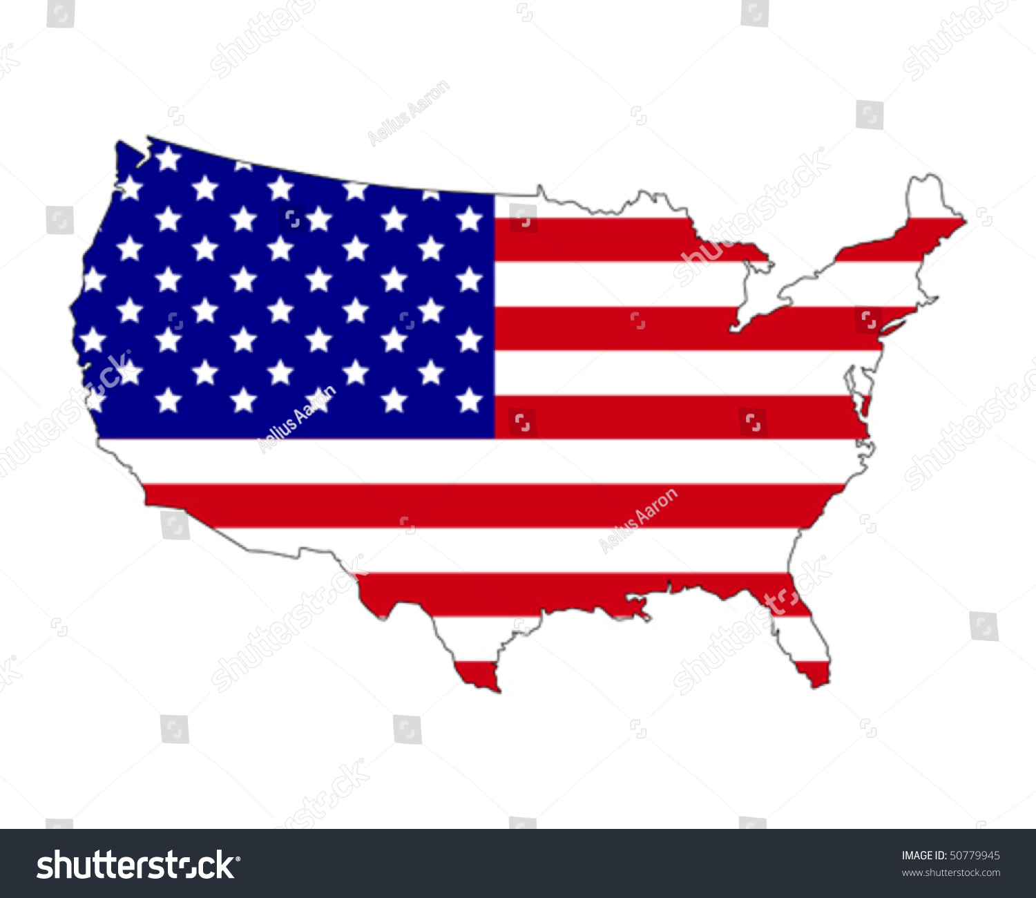 Map Usa Filled Flag Country Stock Vector Shutterstock - Us map with glag