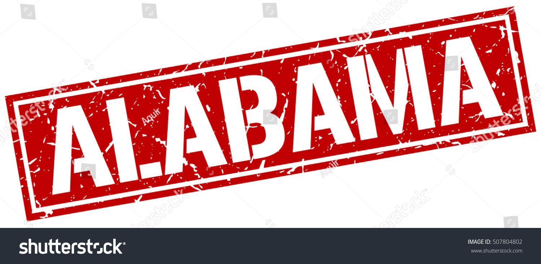 Alabama Grunge Vintage Alabama Square Stamp Stock Vector 507804802 ...
