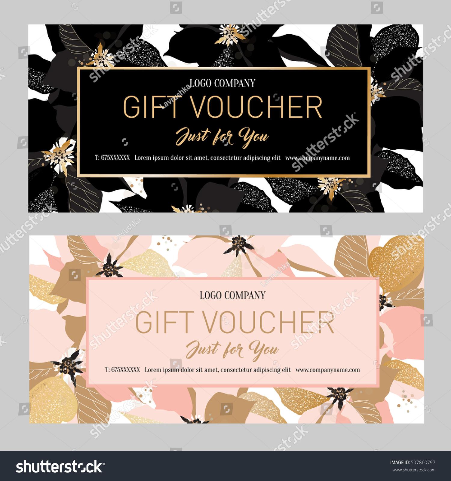 Gift Premium Certificate Gift Card Gift Stock Vektorgrafik