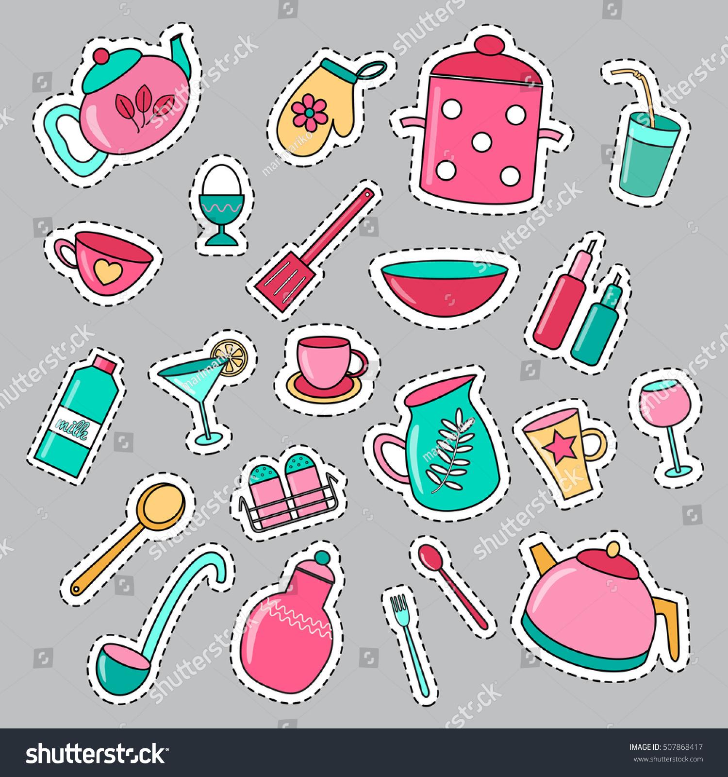 Suchen Sie Nach Set Cartoon Patch Badges Kitchen Utensils Stockbildern In Hd Und Millionen Weiteren Lizenzfreien Stockfotos Illustrationen Und Vektorgrafiken In Der Shutterstock Kollektion Jeden Tag Werden Tausende Neue Hochwertige Bilder