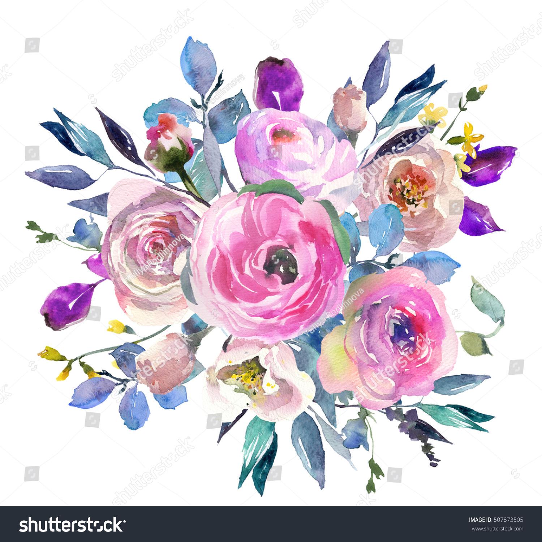 Pretty pink flowers bouquet mightylinksfo Choice Image