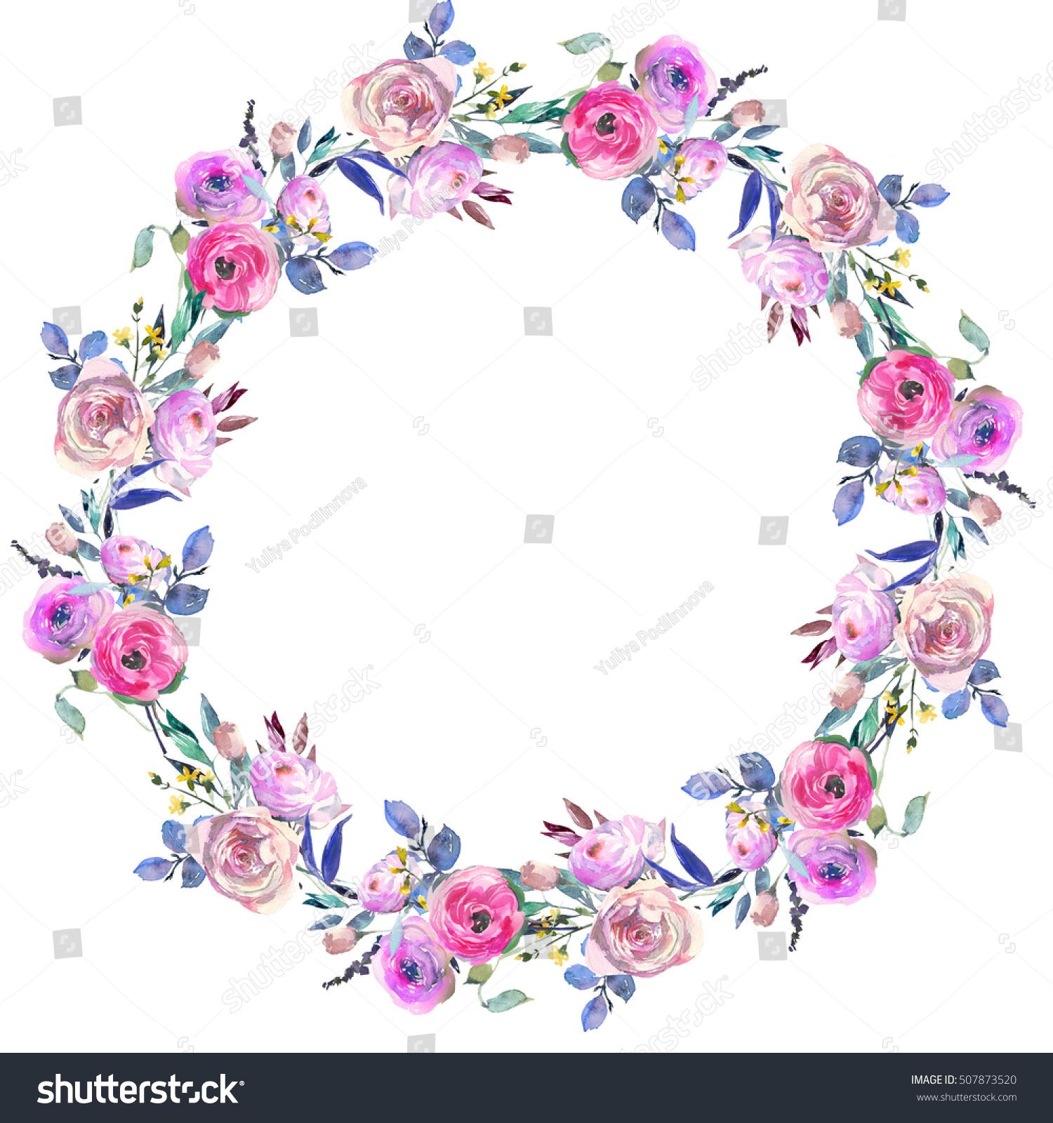 Pink blue purple watercolor flowers peonies roses ranunculus id 507873520 izmirmasajfo