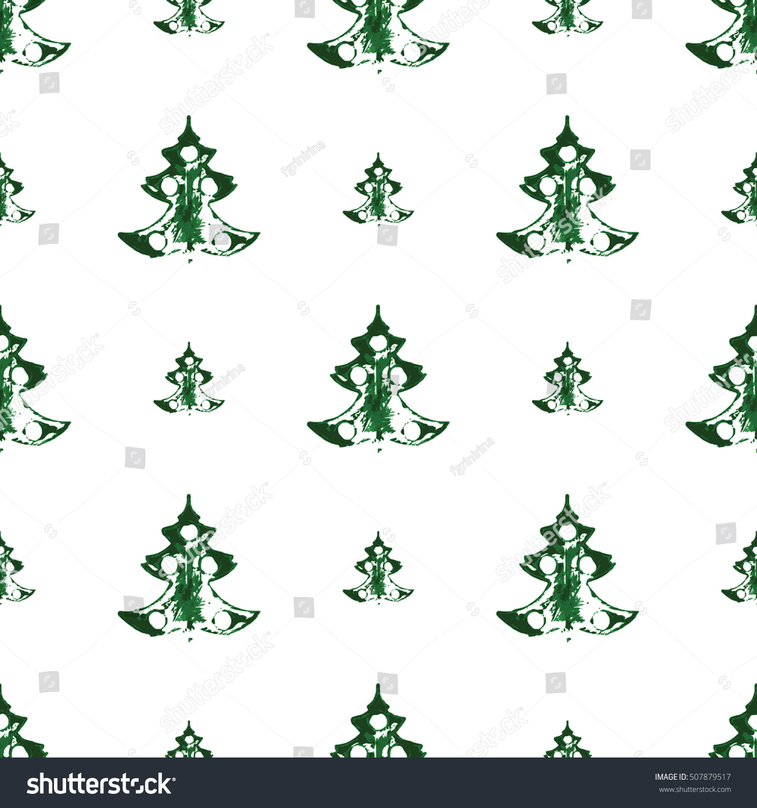 seamless pattern prints large small christmas stock vector