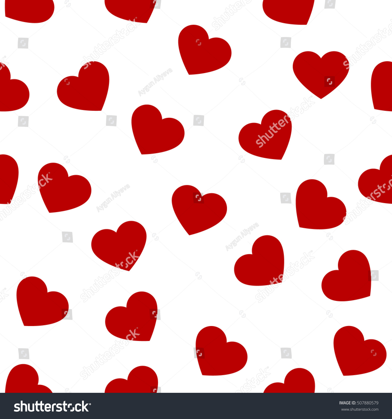 Heart Shape Seamless Patternctor Romantic Hearts Seamless Cartoon