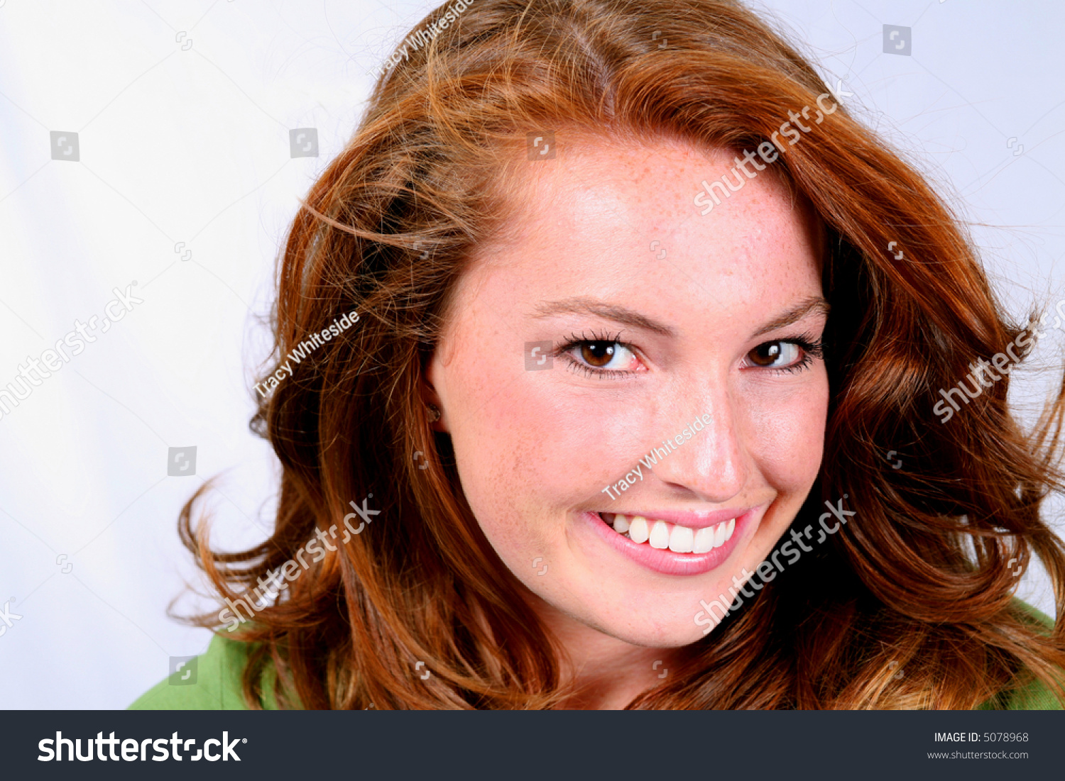 Closeup Of Beautiful Girl With Fabulous Red Hair And ... - photo#24