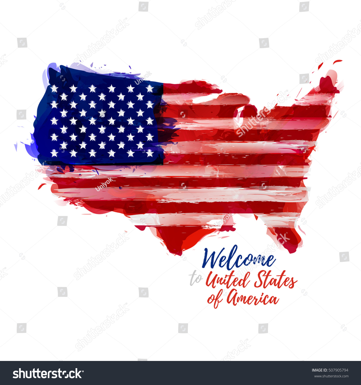Symbol Poster Banner Usa Map United Stock Vector 507905794