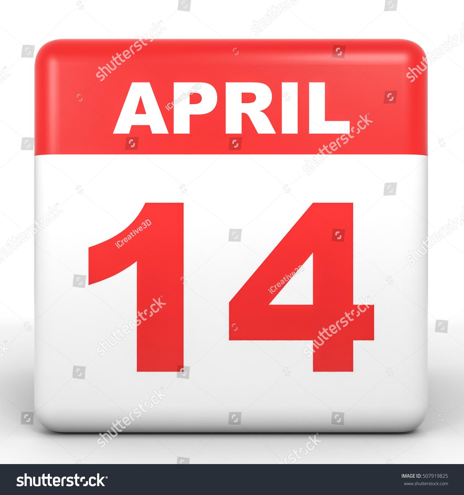 April Calendar Illustration : April calendar on white background d illustration
