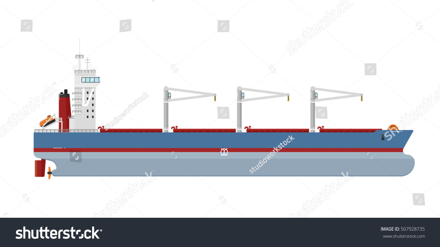 stock vector cargo ship with cranes isolated on white background freight tanker or cargo ship side view 507928735 cargo ship cranes isolated on white stock vector (royalty free