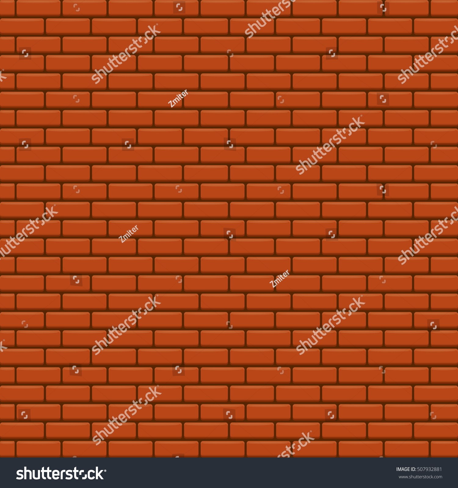 red brick wall vector background. red brick wall seamless pattern vector  backdrop or layout