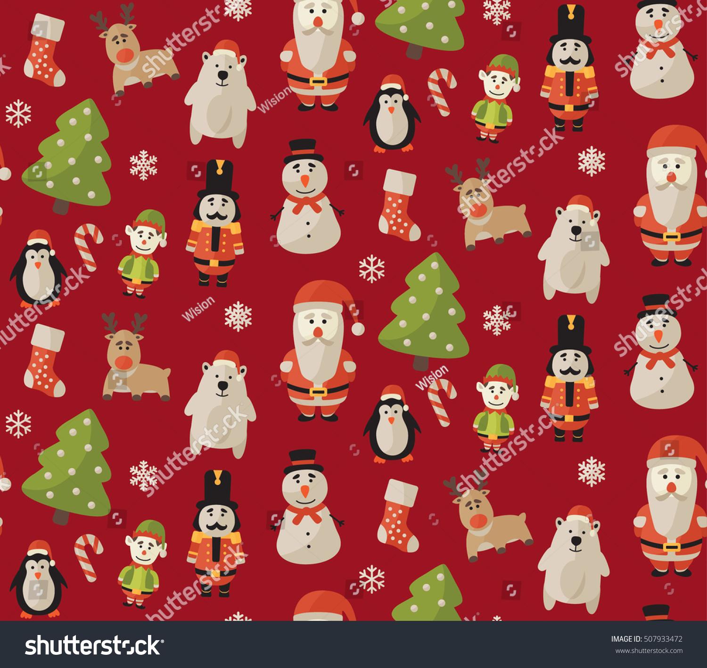 Christmas Gift Wrapper Design.Seamless Christmas Pattern Ideal Design Gift Stock Vector