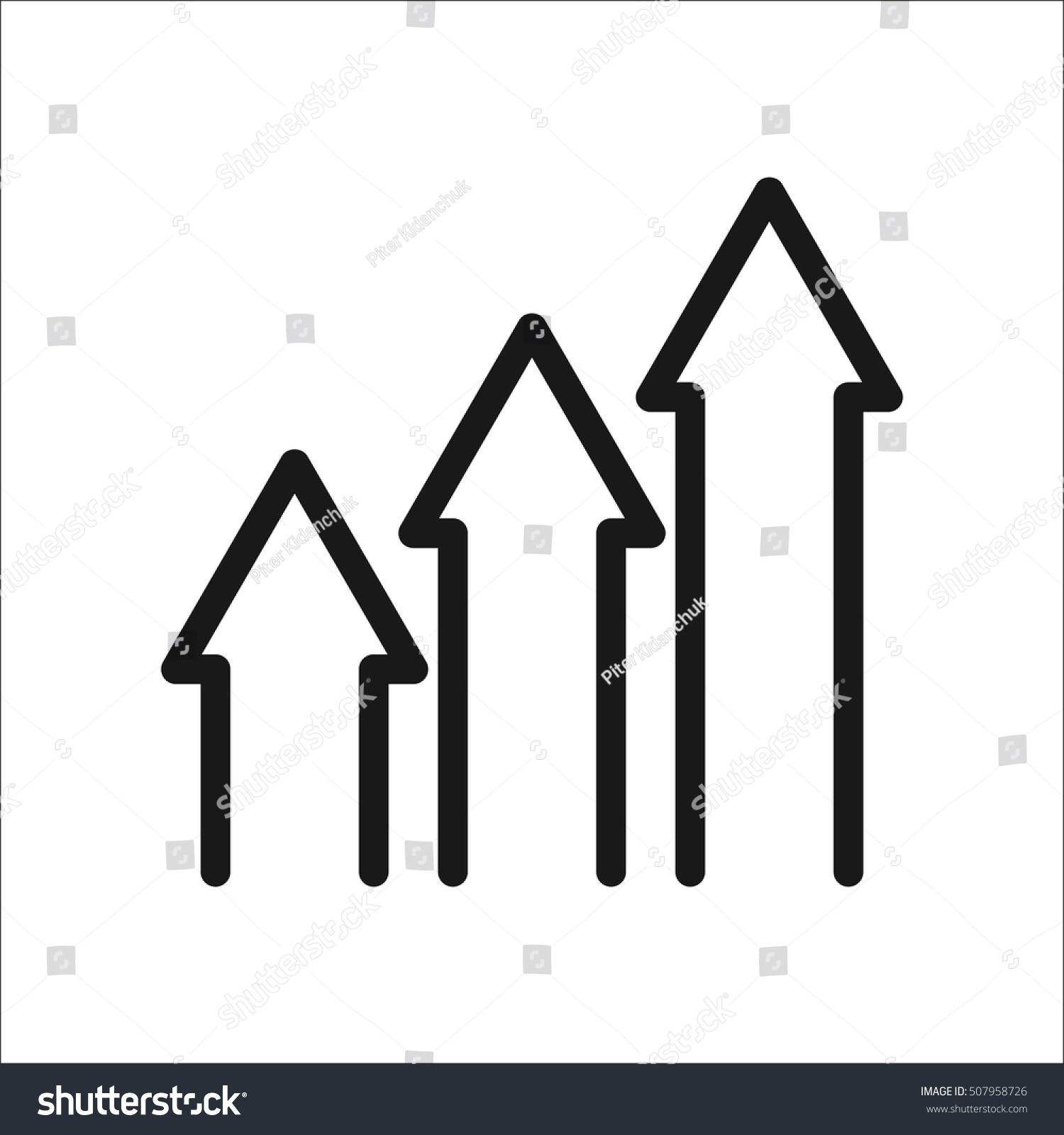 Increase Arrows Graphic Symbol Sign Line Stock Vector 507958726