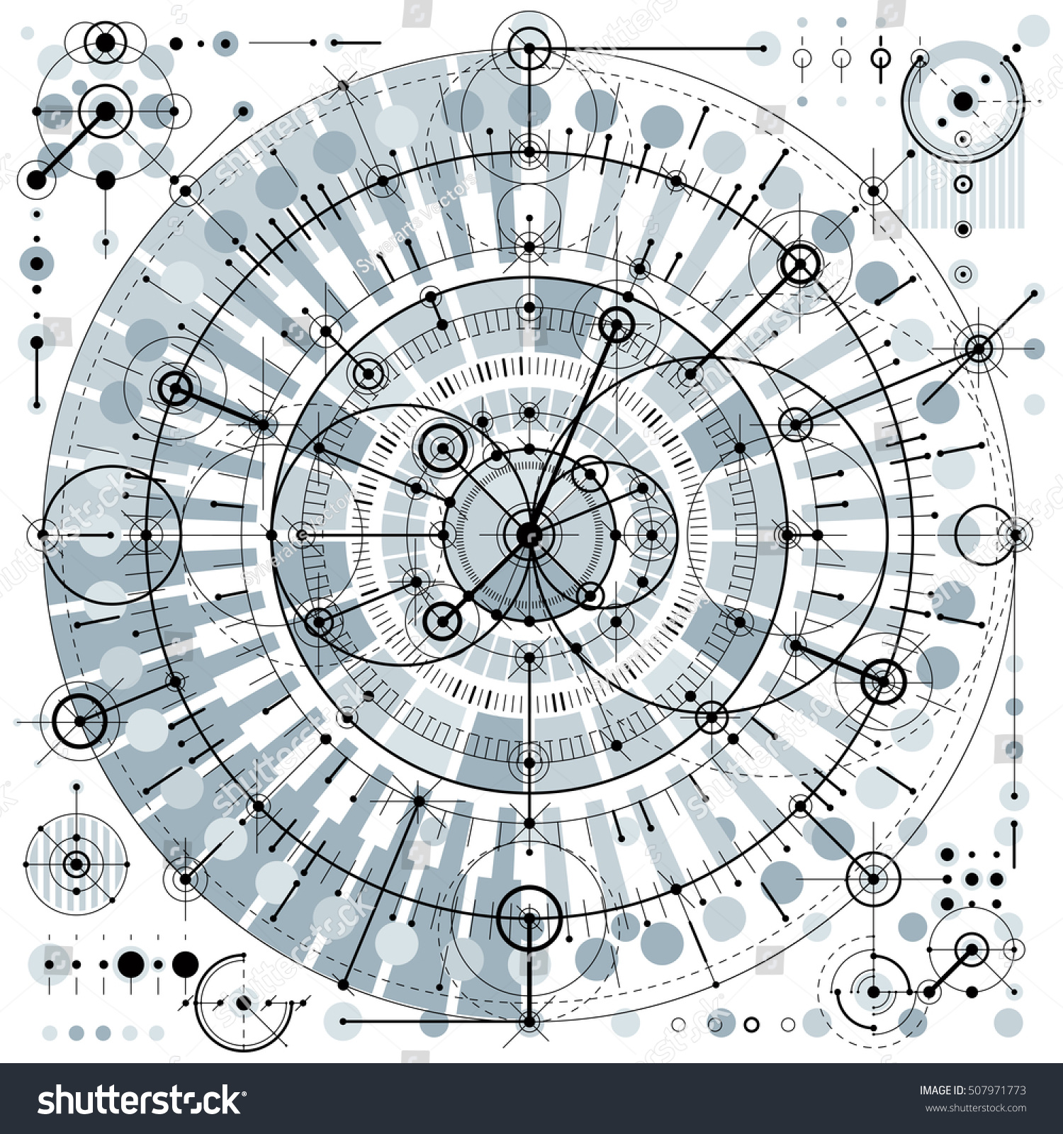 Architectural blueprint vector digital background different stock architectural blueprint vector digital background with different geometric design elements for use as website malvernweather Gallery