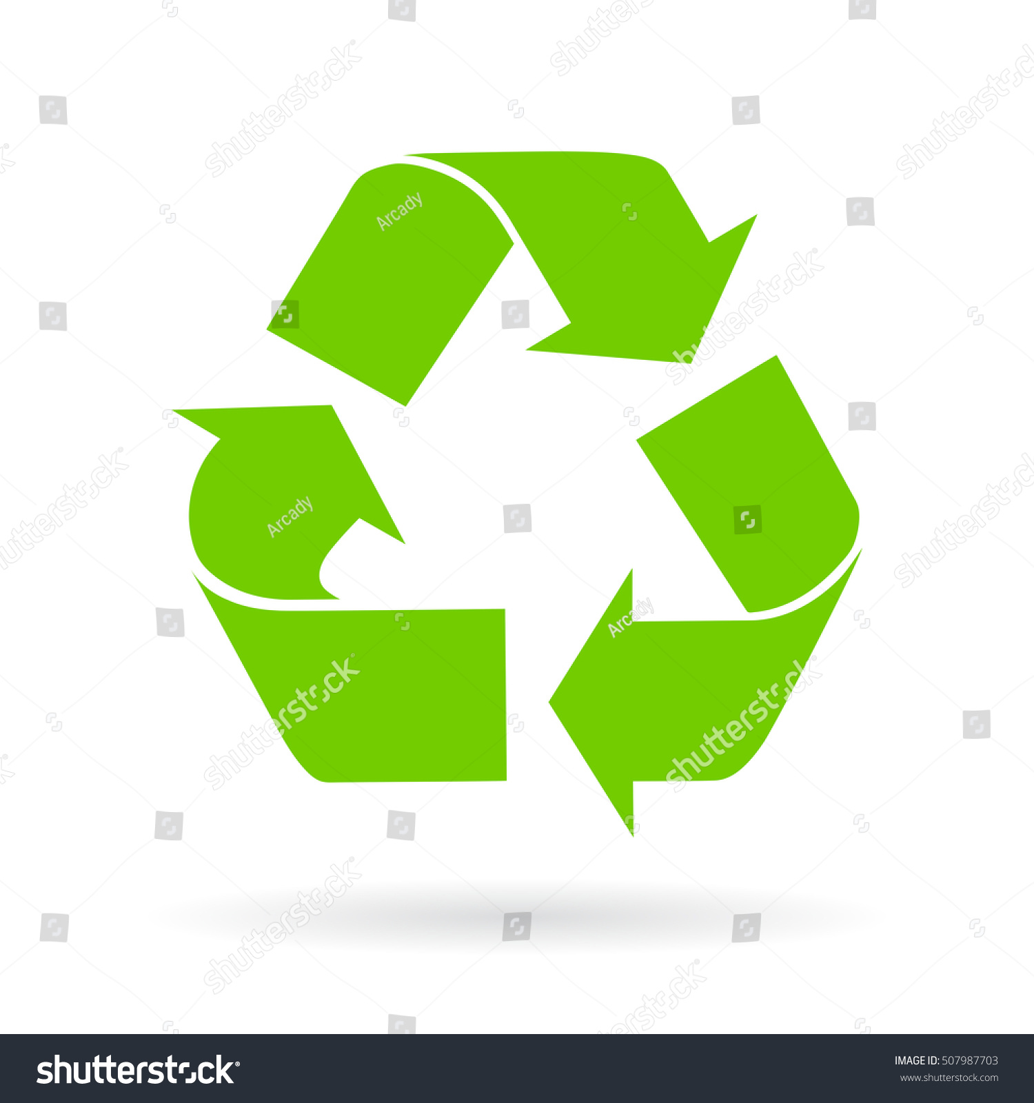 Recycle Cycle Vector Symbol Isolated On Stock Vector Royalty Free