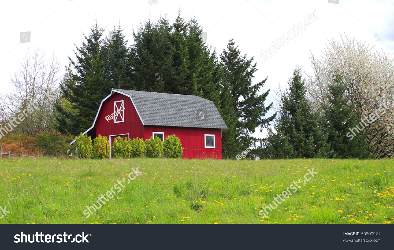 Red barnhouse country stock photo 50800921 shutterstock for Red barn houses