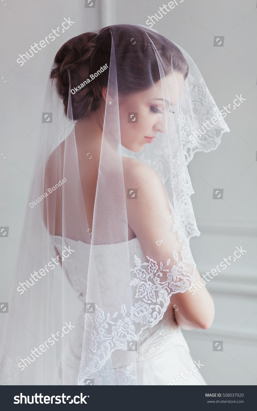 Beautiful Bride Fashion Wedding Hairstyle On Stock Photo 508037920 ...