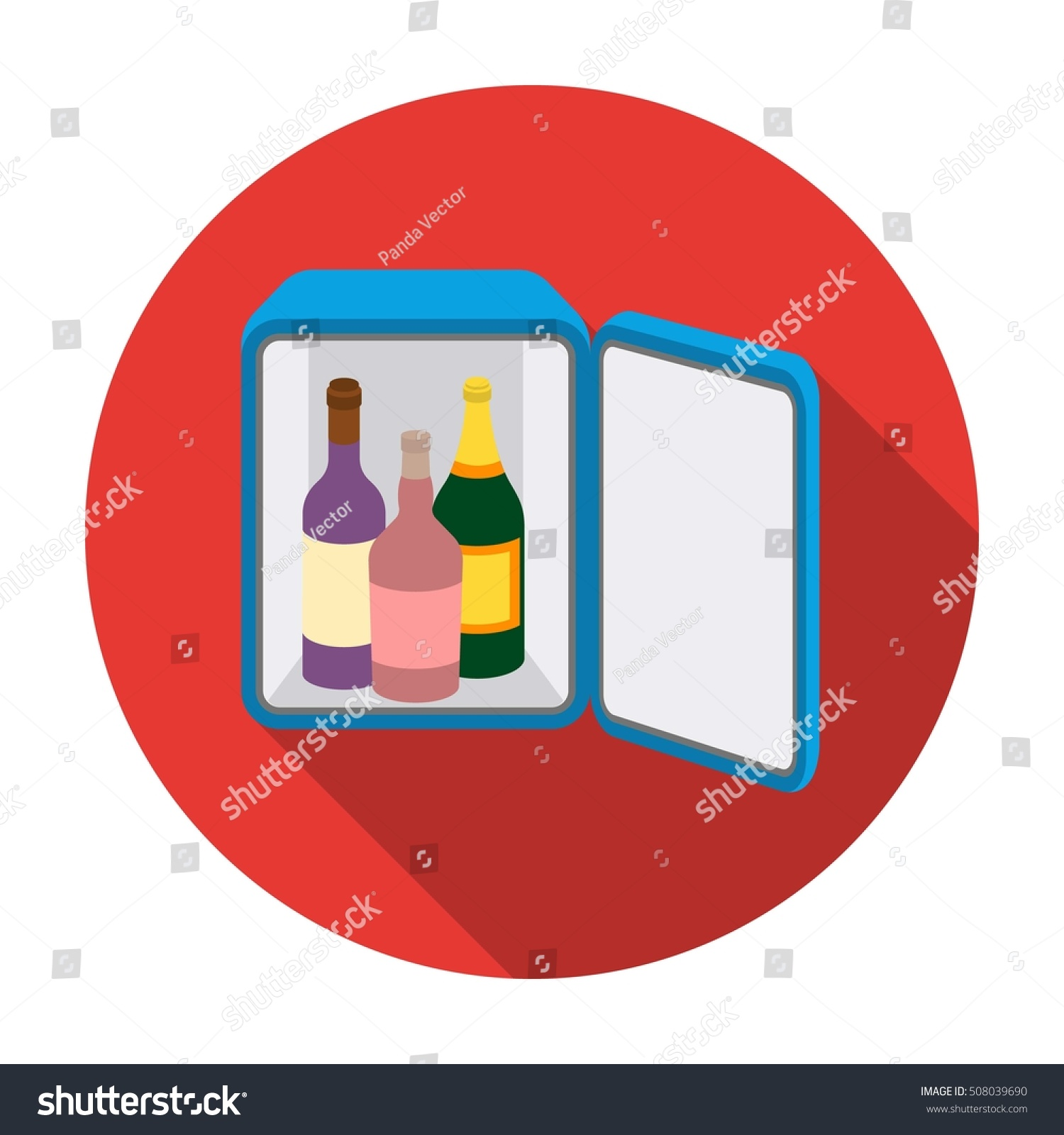 Minibar Icon Flat Style Isolated On Stock Vector 508039690