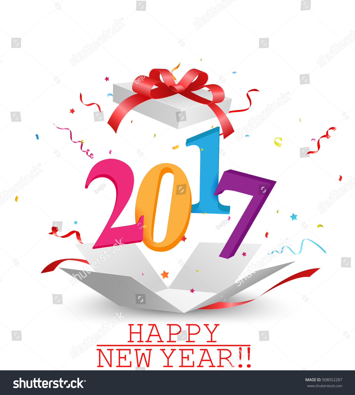 Happy New Year Greeting Card Design Stock Illustration ...