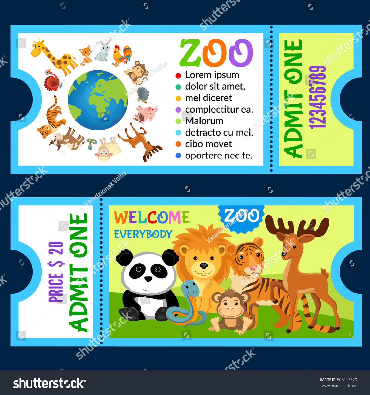 Vector illustration animals jungle ticket invitation stock vector vector illustration animals jungle ticket invitation stock vector 508115629 shutterstock stopboris Images