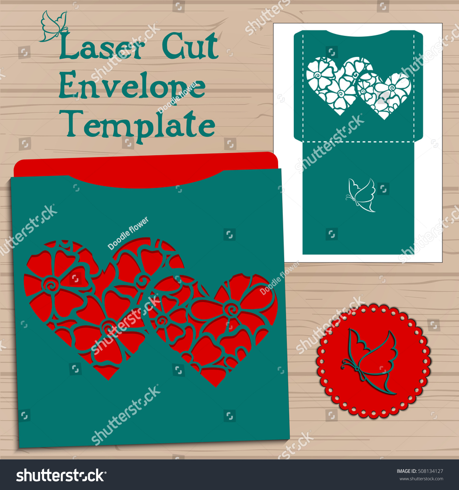 Lasercut Vector Wedding Invitation Template Wedding Stock Vector ...