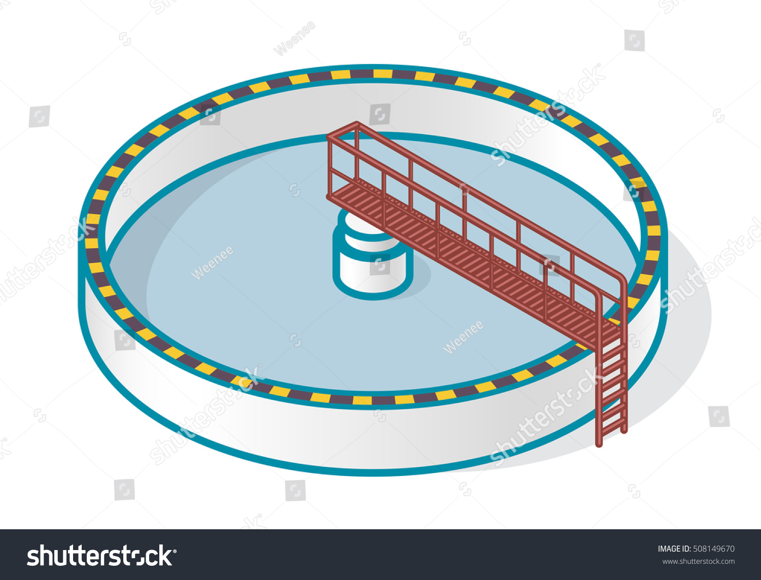 Waste Water Treatment Plant Stylized Outline Stock Vector 508149670 Shutterstock
