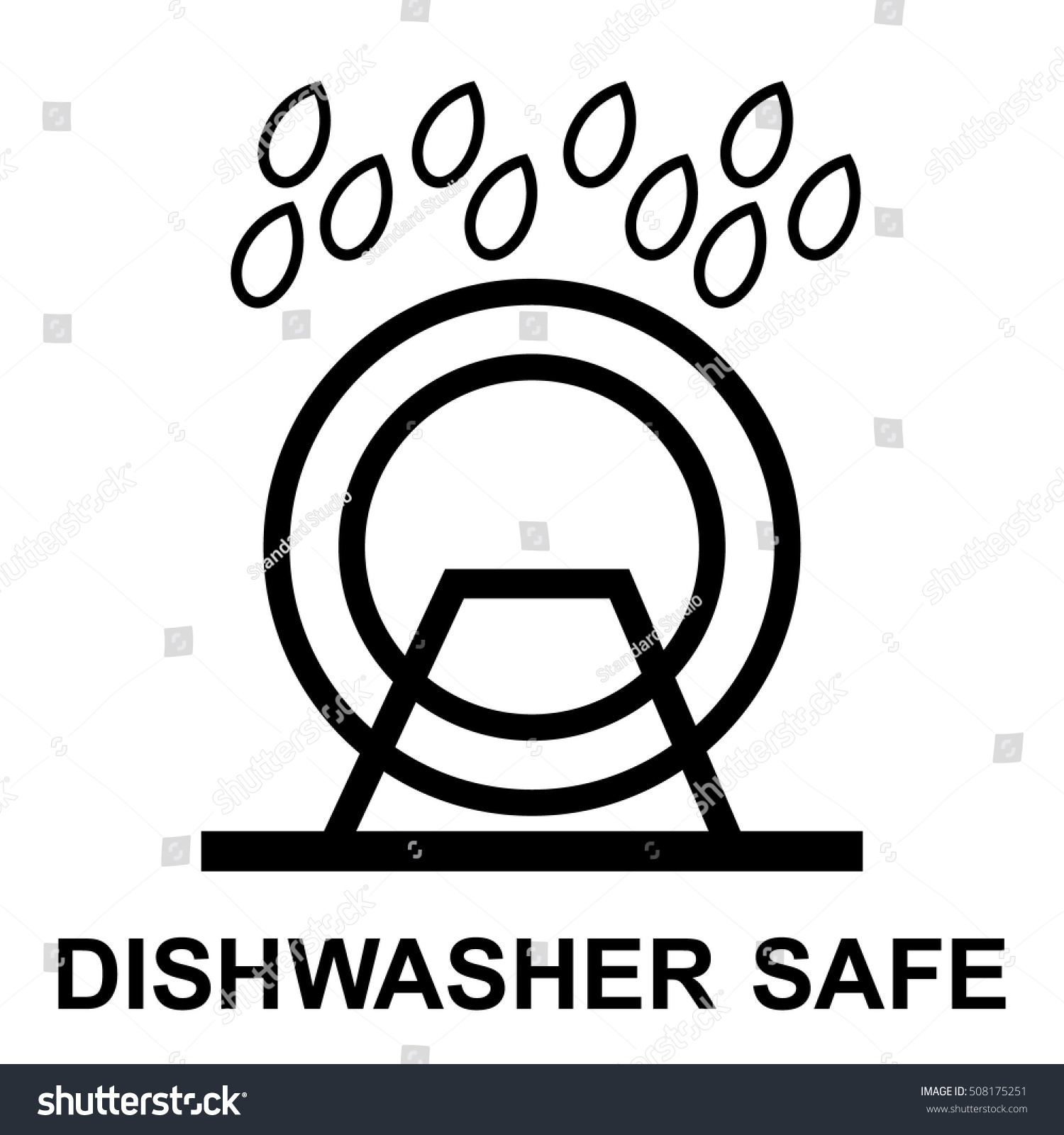 Dishwasher Safe Symbol Isolated Dishwasher Safe Stock Vector
