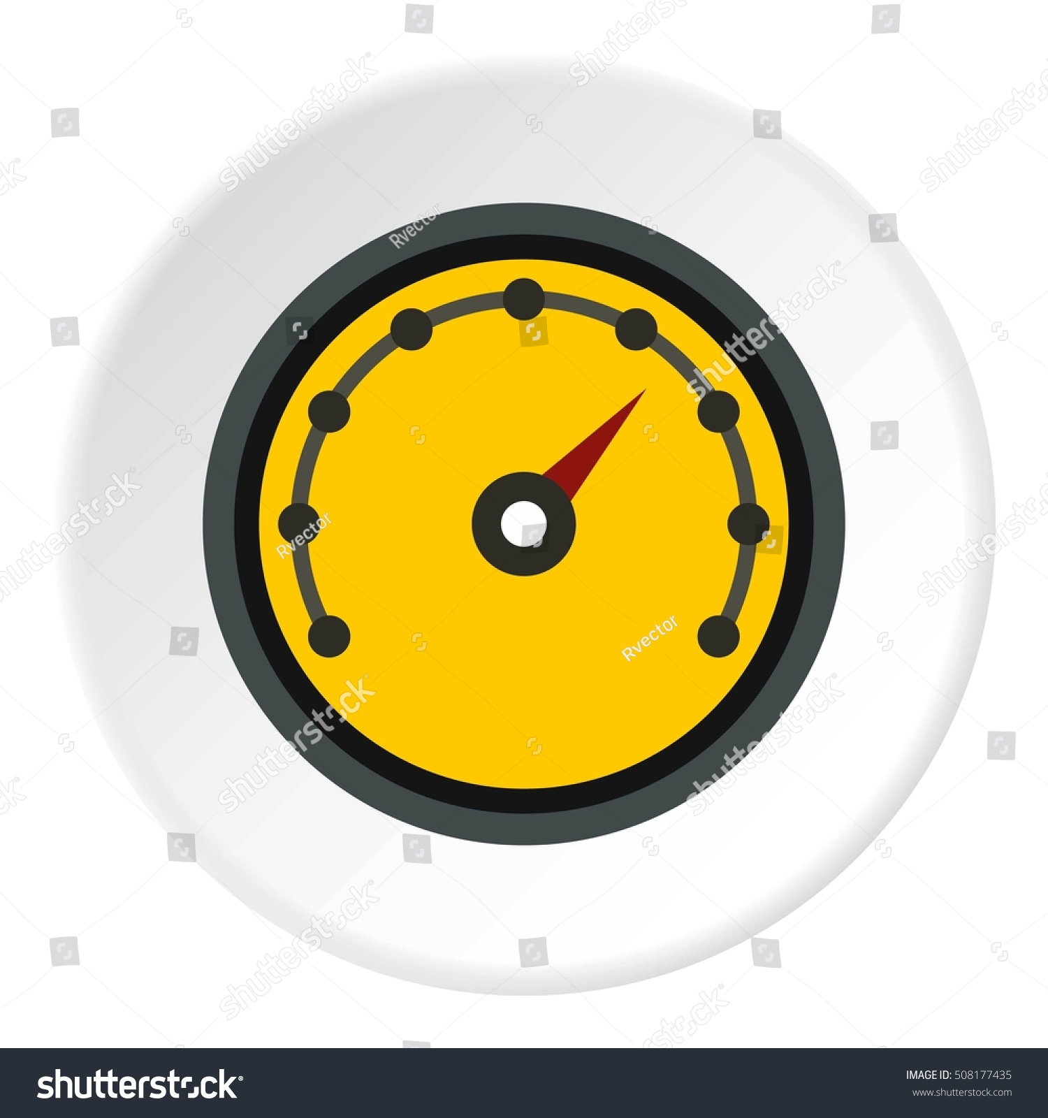 Speedometer Dot Notation Icon Flat Illustration Stock ...
