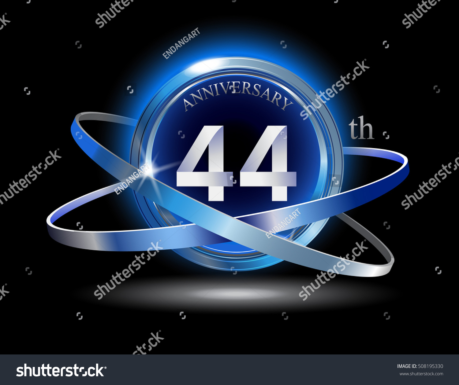 44th anniversary blue ring graphic elements stock vector 508195330 44th anniversary with blue ring graphic elements on black background biocorpaavc Gallery