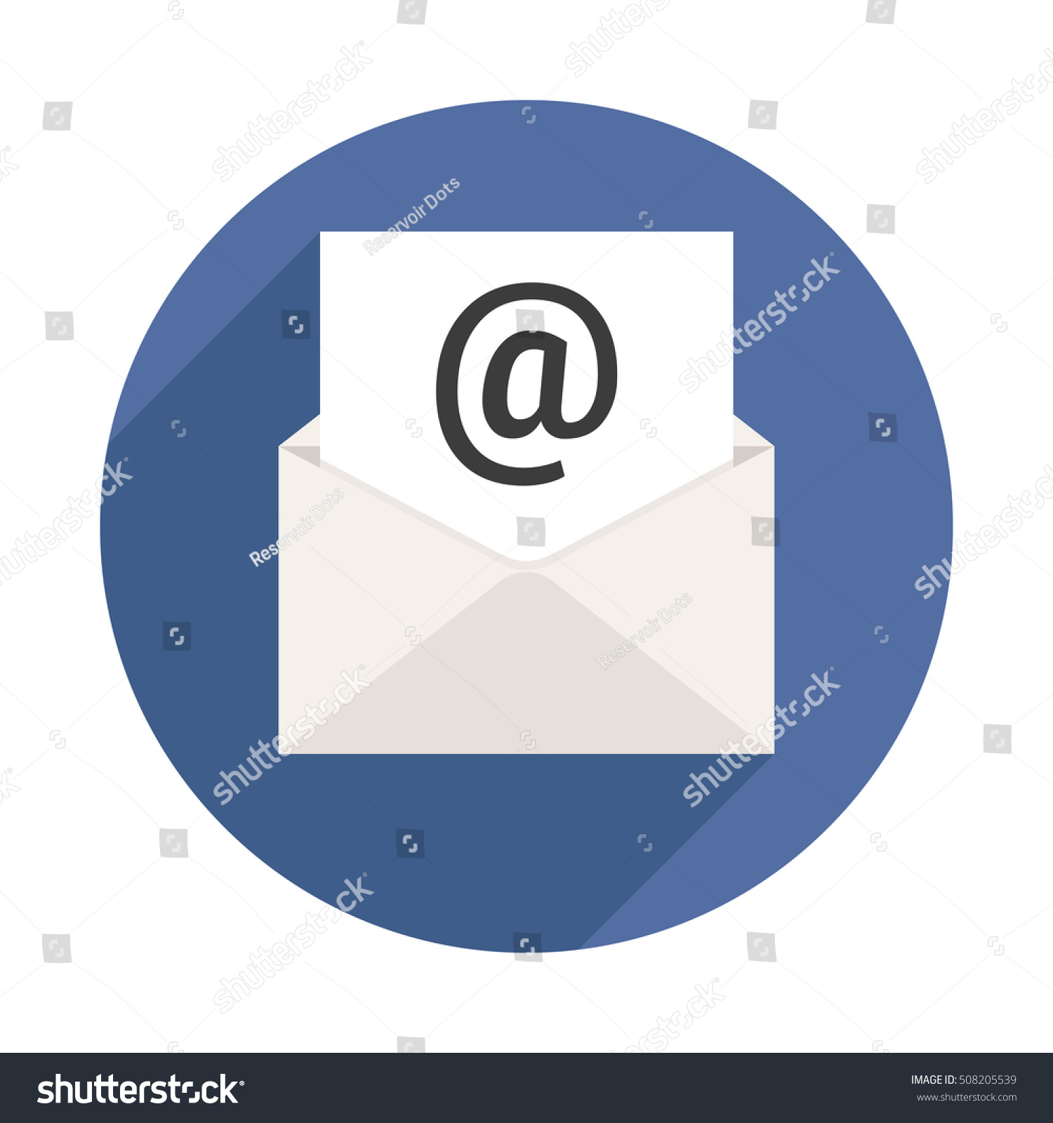 Mail Letter Long Shadow Icon Stock Vector Shutterstock