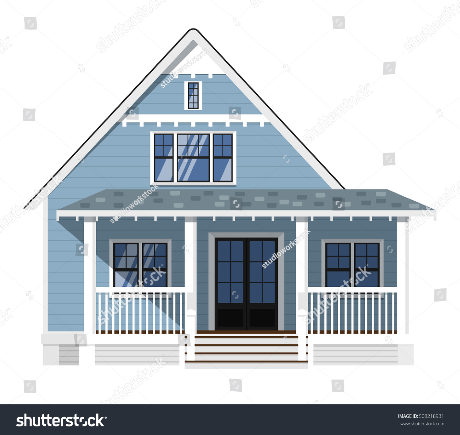 House Isolated On White Background Vector House Or Family