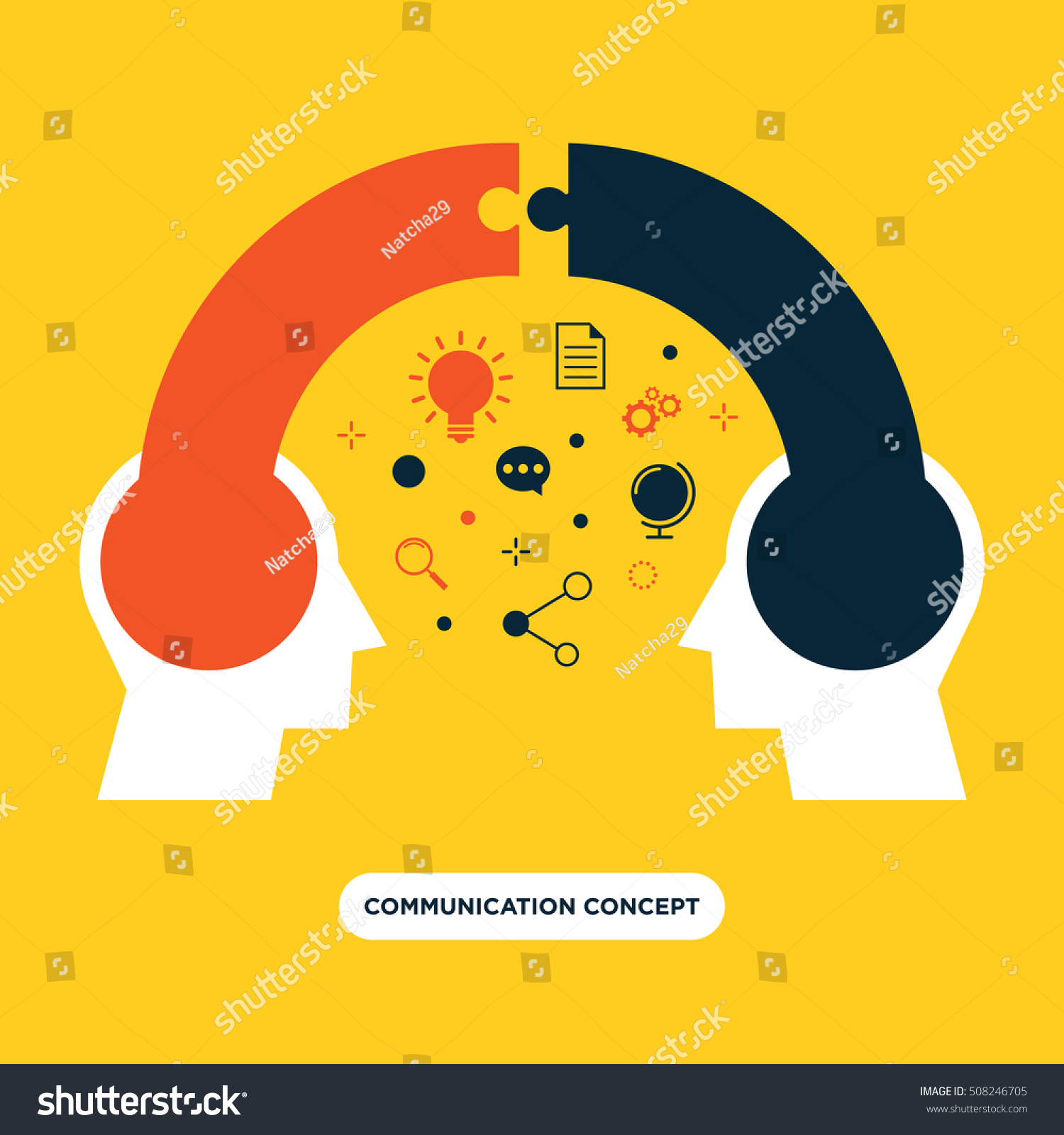 Communication concept opinion exchange flat design stock vector communication concept opinion exchange flat design vector illustration buycottarizona