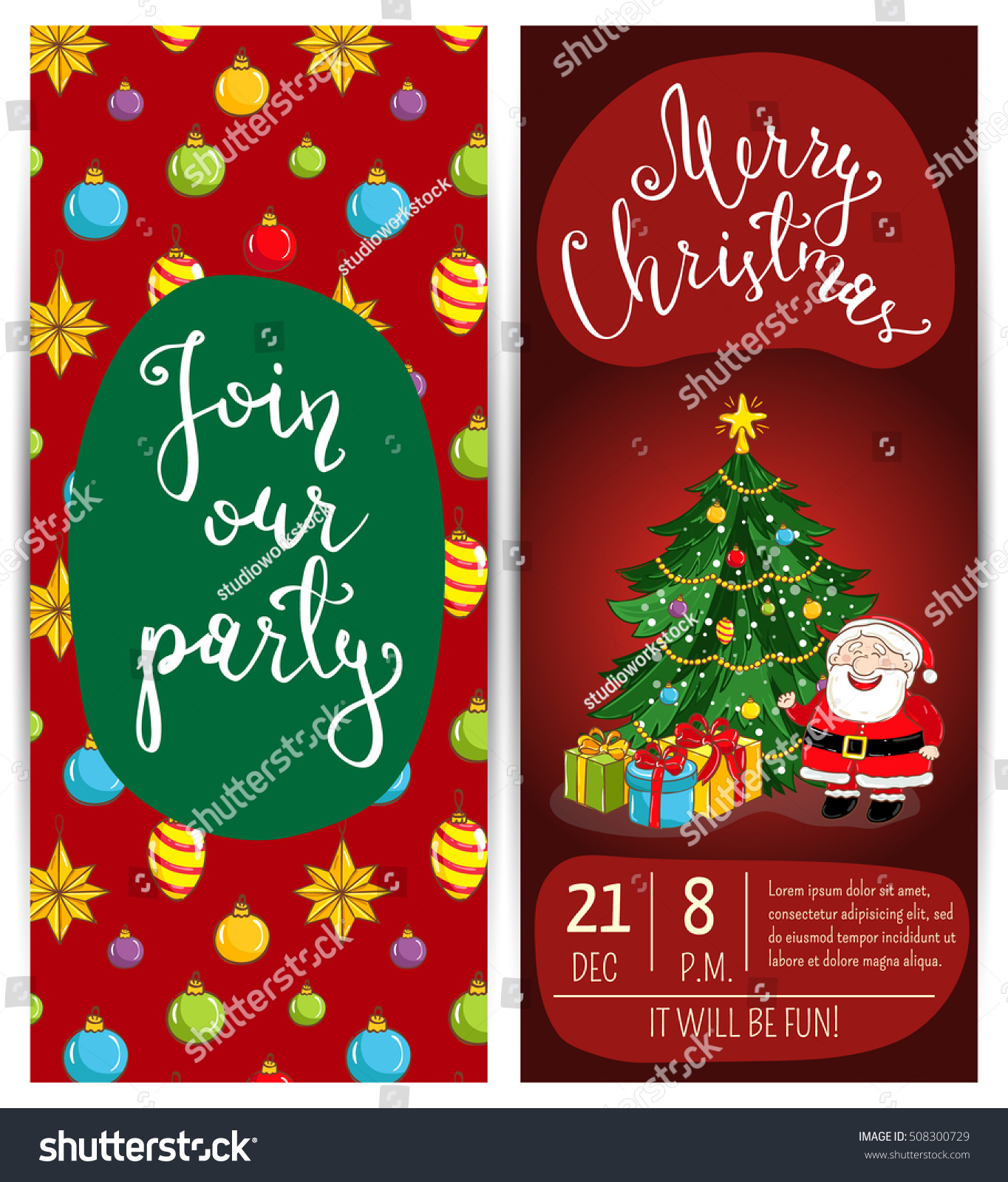 Merry christmas happy new year greetings stock vector royalty free merry christmas and happy new year greetings card template of christmas party invitation m4hsunfo