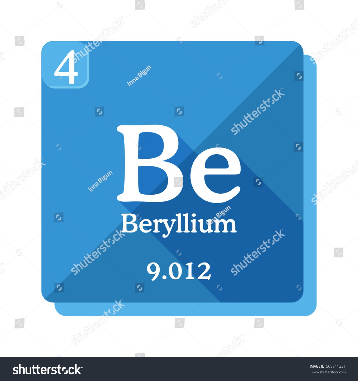 Beryllium chemical element periodic table elements stock vector beryllium chemical element periodic table of the elements beryllium icon on blue background buycottarizona Image collections