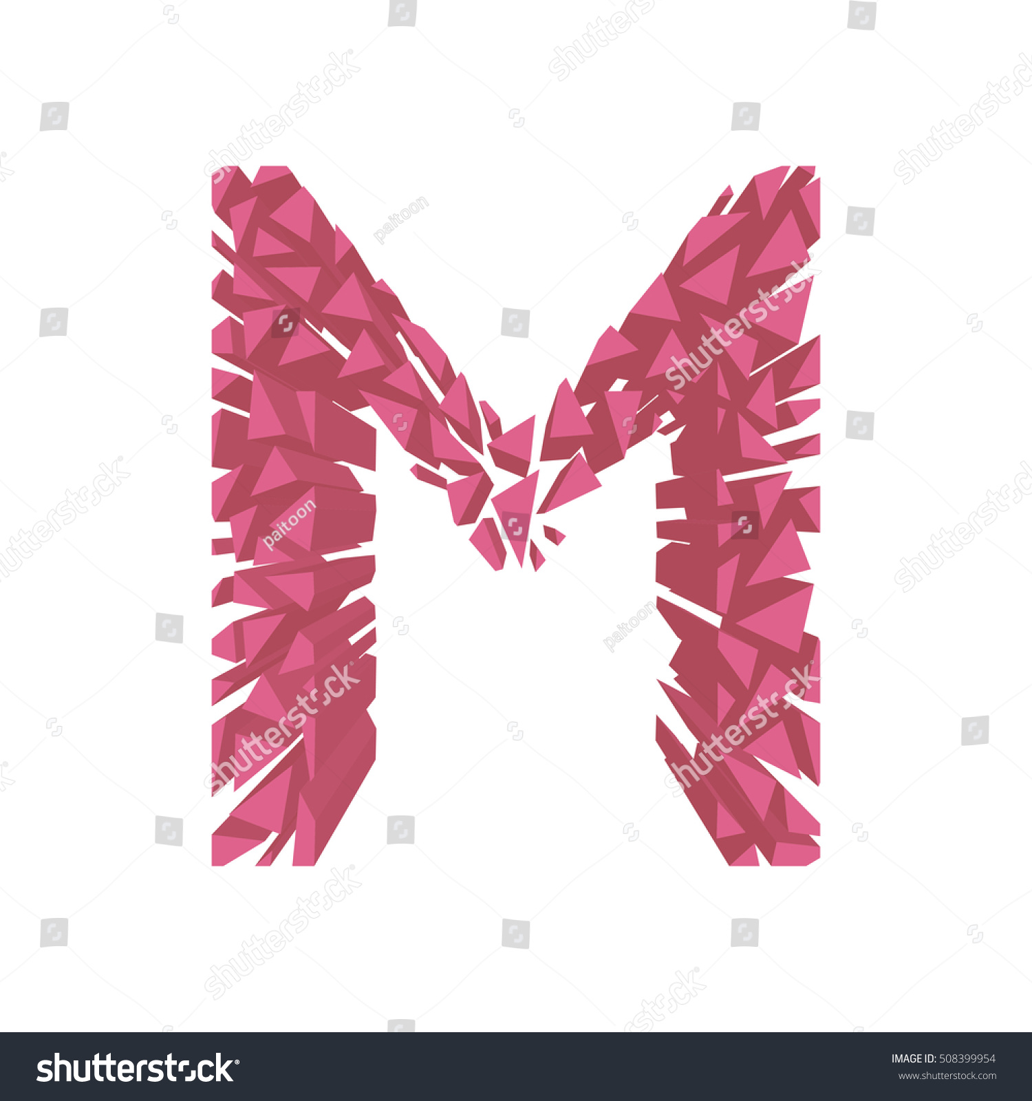 Royalty-free The letter M, in the alphabet broken 3d… #508399954 ...