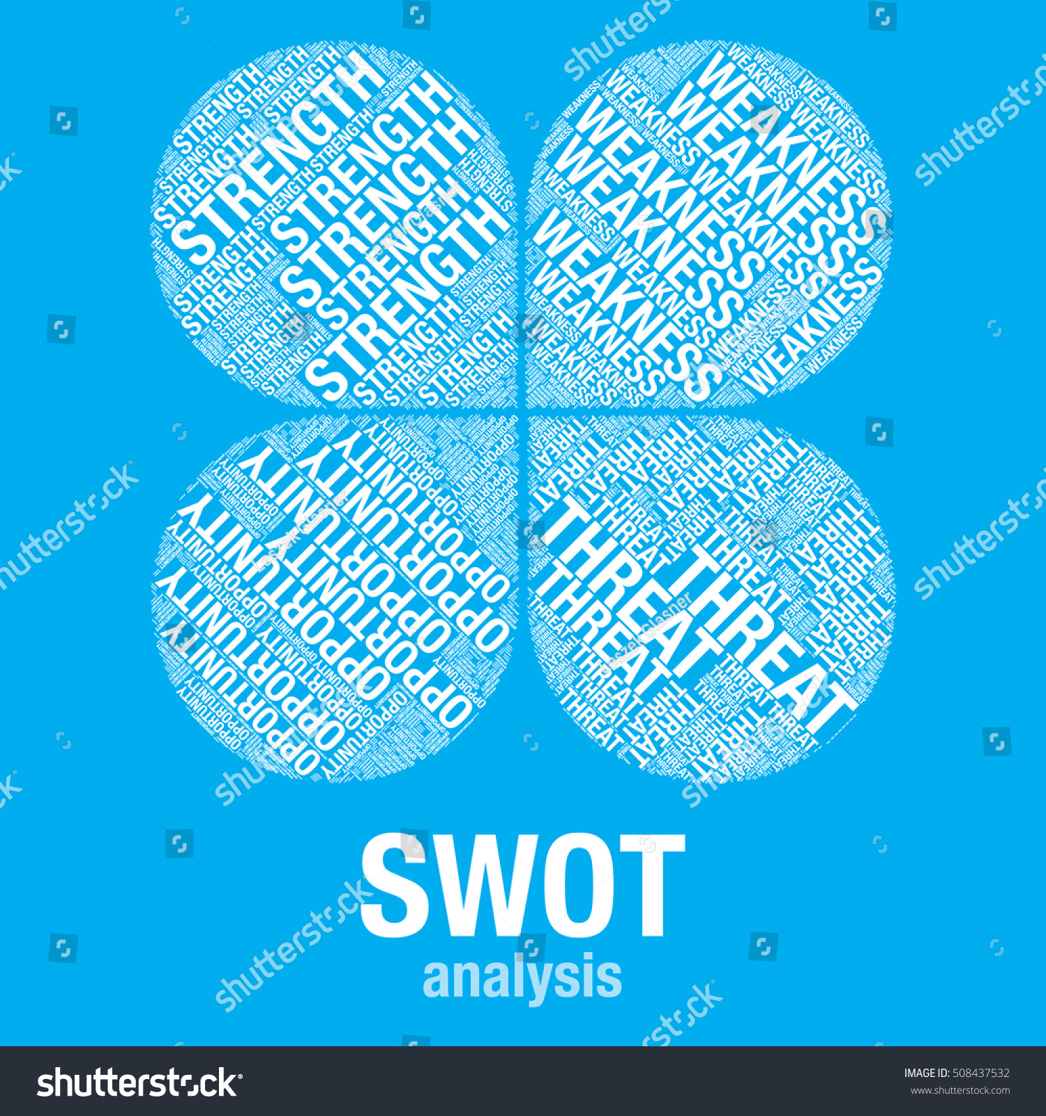 swot analysis word cloud business vector stock vector 508437532, Powerpoint templates
