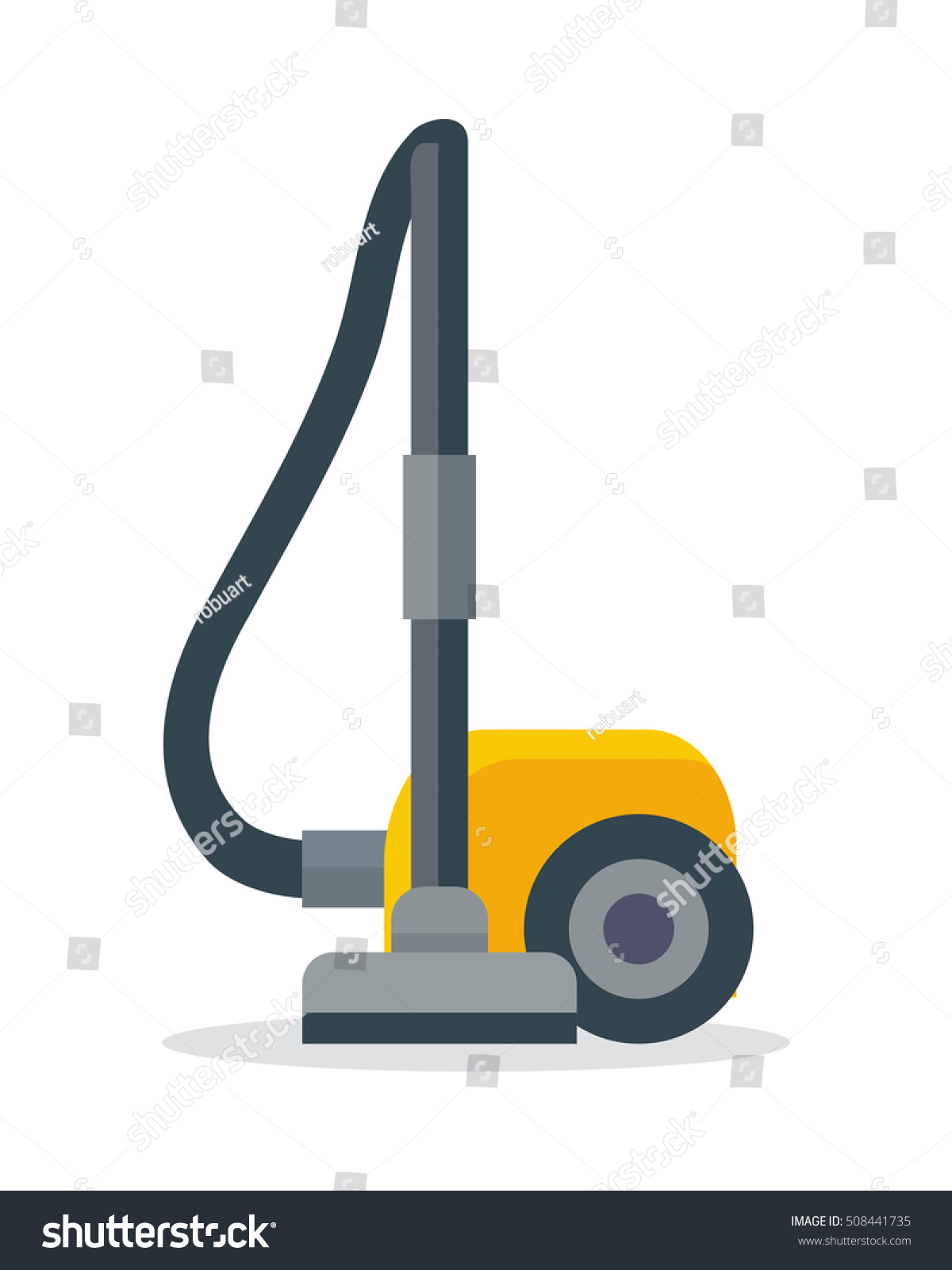 vacuum cleaner icon isolated on white stock vector