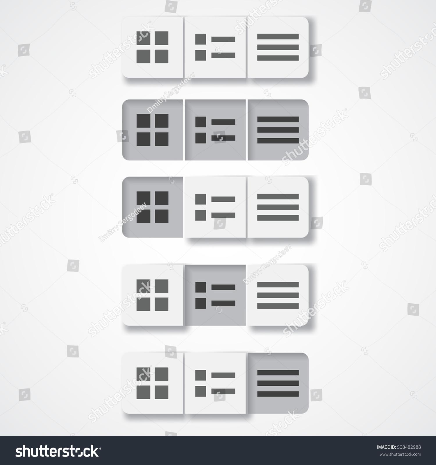 Button List Display Mode Change Stock Vector 508482988 - Shutterstock
