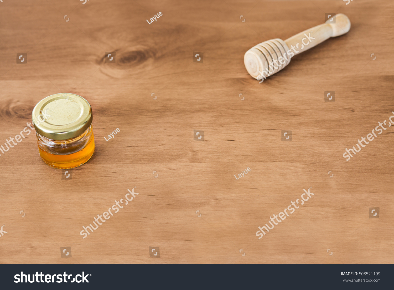 Small Jar Honey Small Wooden Honey Stock Photo Edit Now 508521199