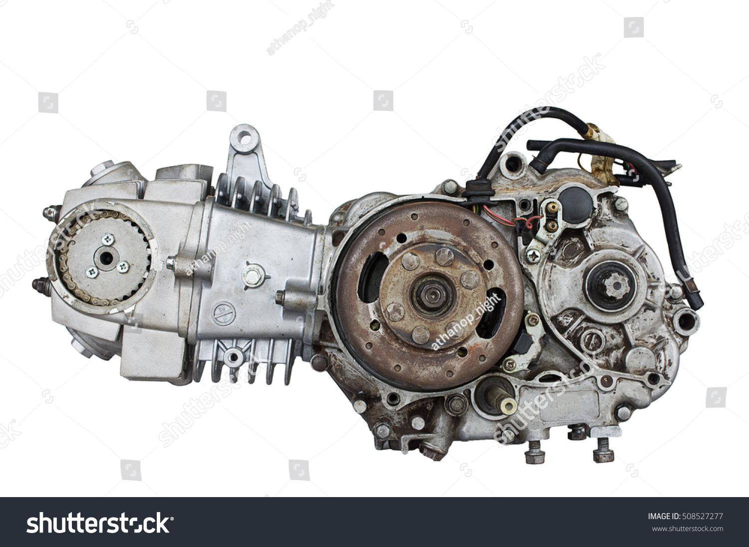 Old Motor Engine Gear Motorcycles Hard Stock Photo (Royalty Free ...