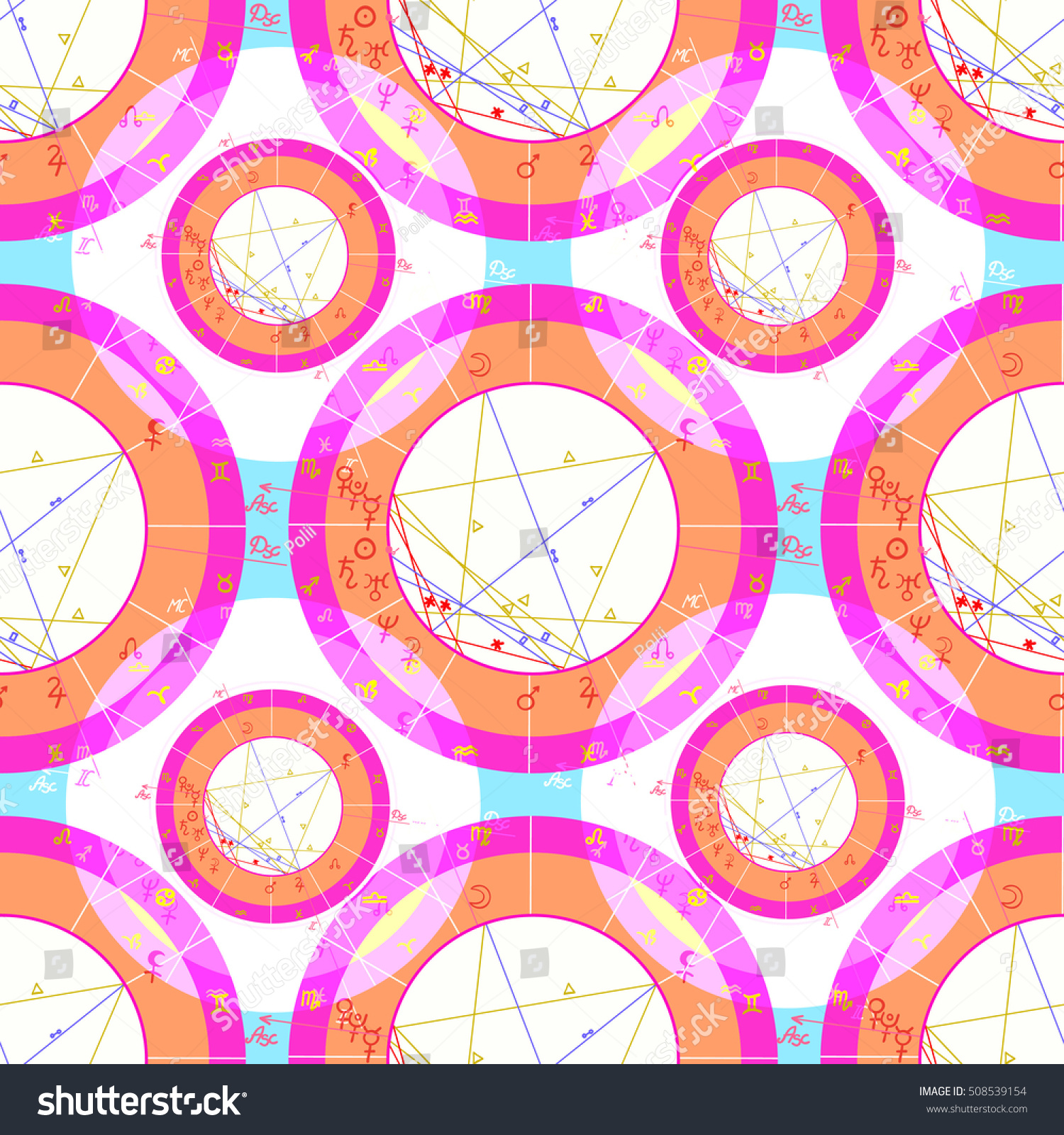 Seamless pattern pink natal astrological chart stock vector seamless pattern pink natal astrological chart zodiac signs on blue vector illustration nvjuhfo Image collections