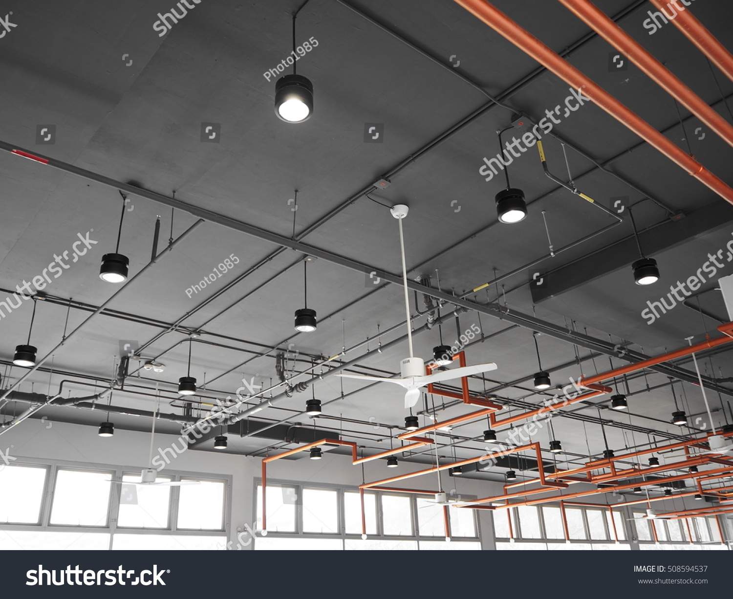 Array Newly Installed Electrical Conduits Stock Photo Edit Now Conduit Wiring Installing Metal How To Install Of