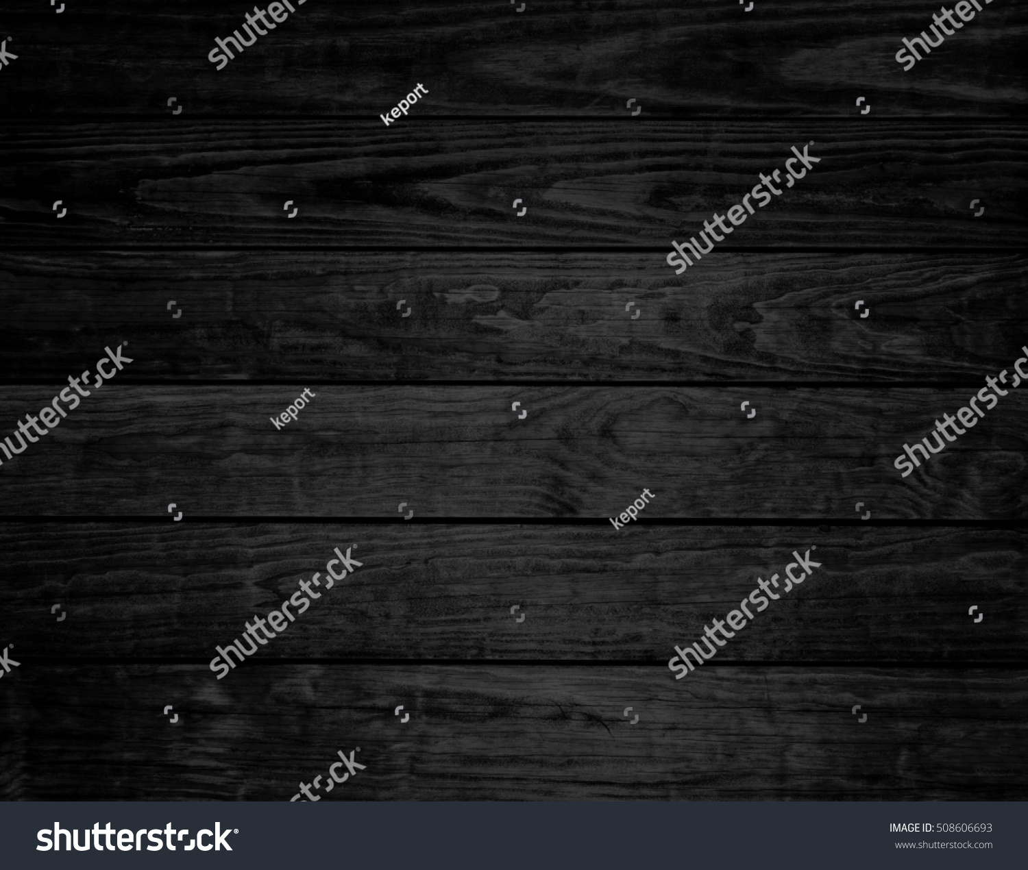 Rustic Black Background With Wooden Planks
