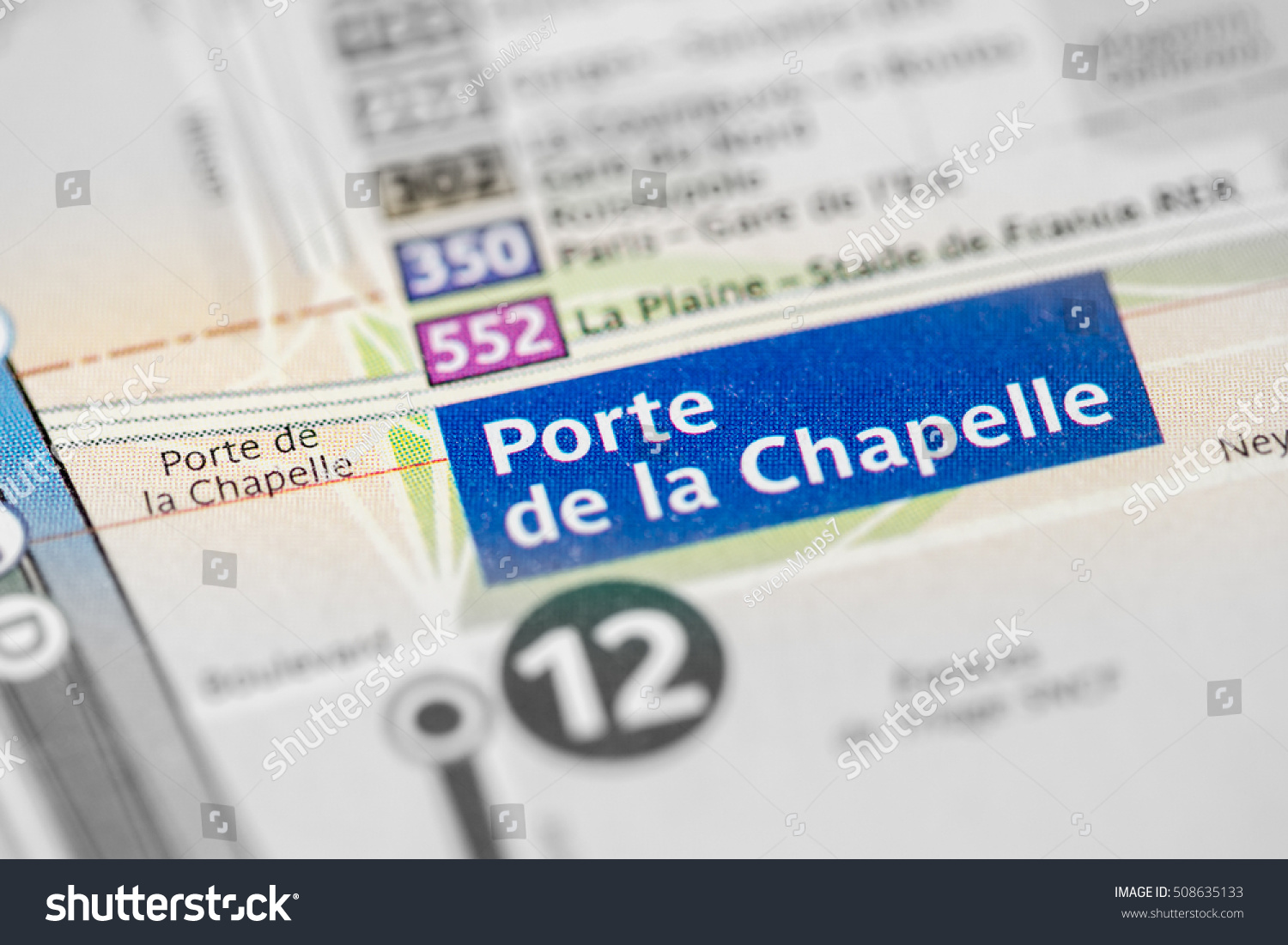 Porte de la chapelle station 12th stock photo 508635133 for Porte de la chapelle