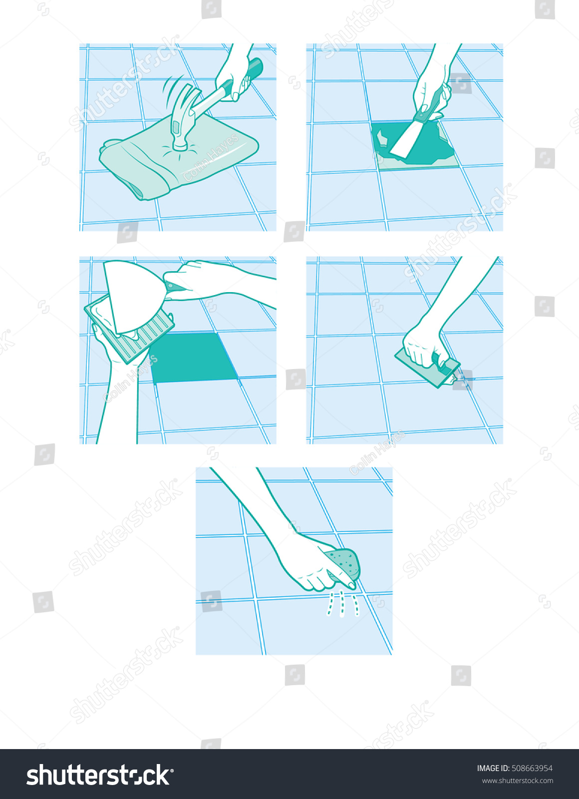 Replace broken floor tile images home flooring design how replace broken floor tile stock vector 508663954 shutterstock how to replace a broken floor tile dailygadgetfo Images