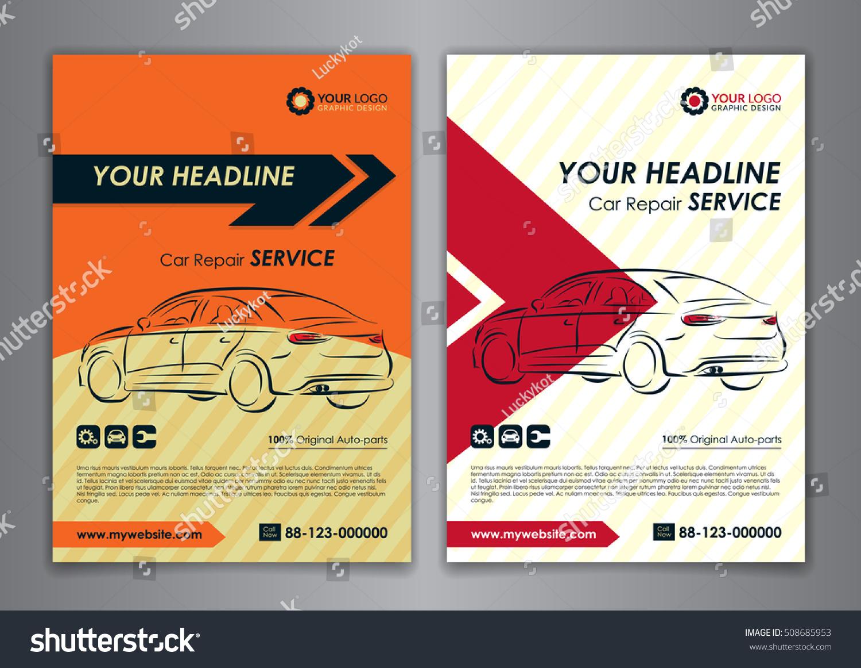 A5 A4 Set Car Repair Service Stock Vector 508685953 - Shutterstock