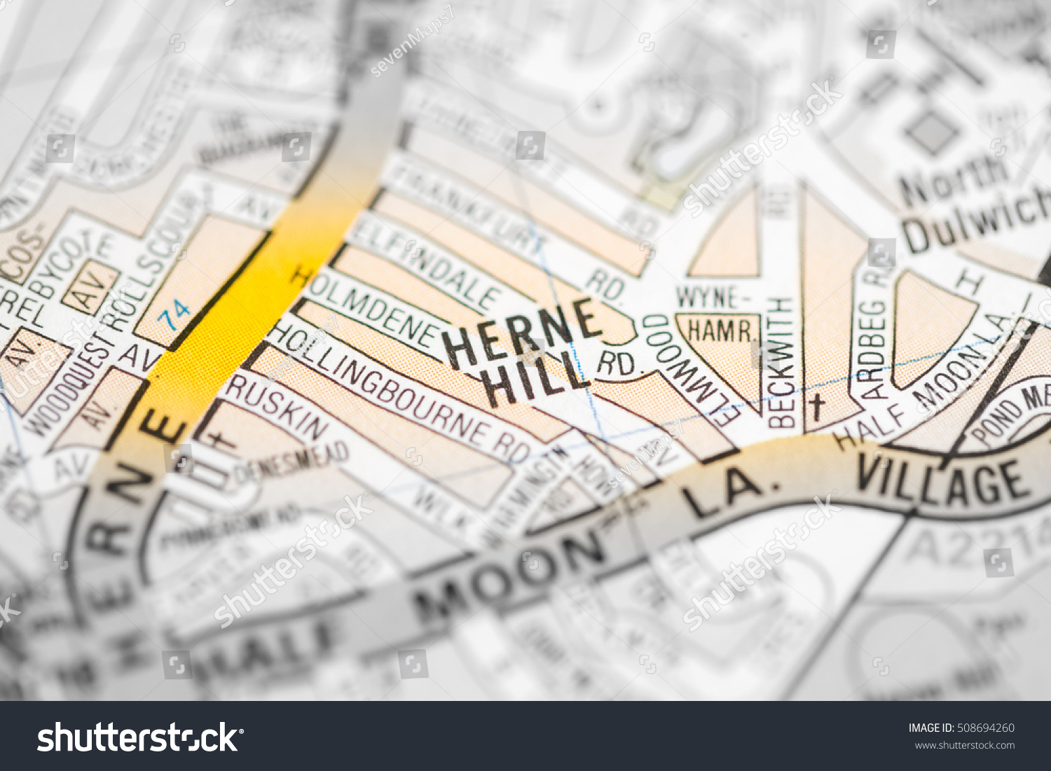 Herne Hill London Uk Map Stock Photo 508694260 Shutterstock