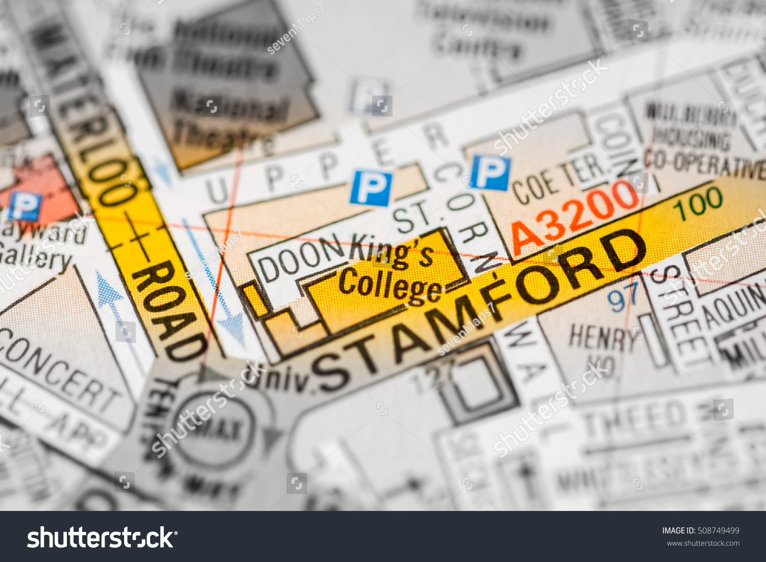 Kings College London Map.Kings College London Uk Map Stock Photo Edit Now 508749499