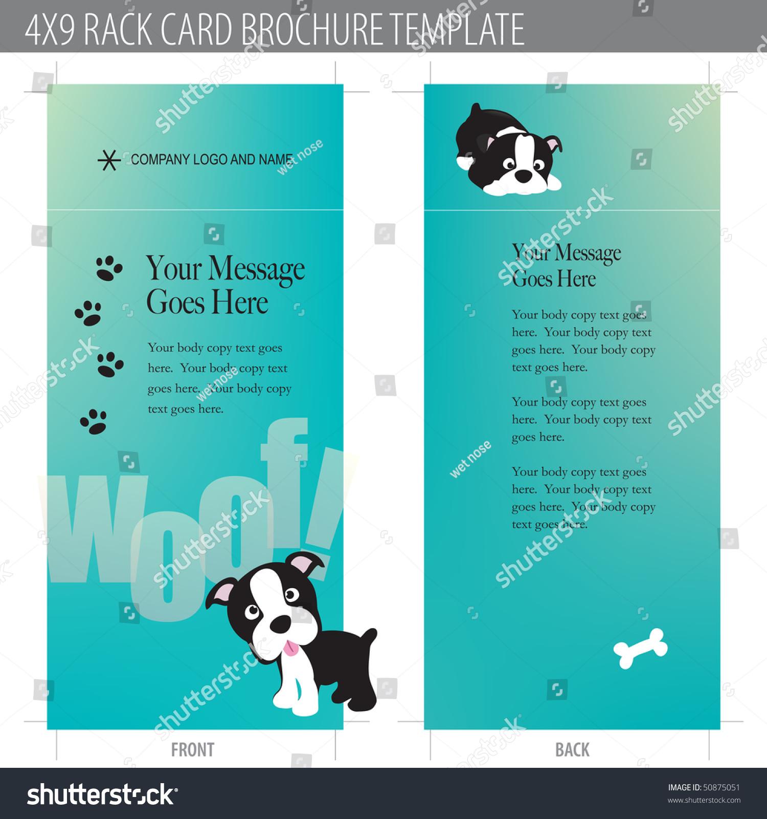 4x9 rack card brochure template stock vector illustration 50875051 shutterstock. Black Bedroom Furniture Sets. Home Design Ideas